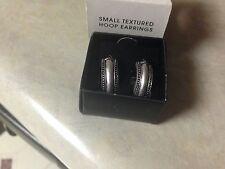 Avon Small Textured Hoop Earring NIB