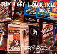 MYSTERY PACK OF 10 CARDS   ONE GUARANTEED HIT PER PACK   TIMS MVP YOUNG GUNS