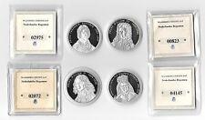 NETHERLANDS NEDERLANDSE REGENTEN 4 BU Proof Medals with COA in Capsoules 40mm I