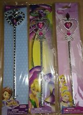 THREE DISNEY WANDS PRINCESS SOFIA AND DISNEY FARIIES ALL NEW AND SEALED