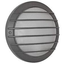 Lampada muro esterno con griglia ip65 aludruckguss antracite struttura in vetro boluce