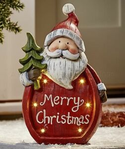 Santa Lighted Holiday Merry Christmas Statue Yard Lawn Porch Patio Outdoor Decor