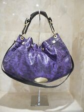 Mulberry Net A Porter Mitzy Purple Leopard Tote Patent Leather Large +  Serial No 13cc700637bd9