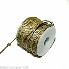 HEMP TWINE STRING CORD 1MM ROUND NATURAL COLOR 25 METER ROLL HT1