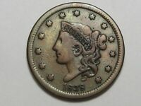 Better-Grade 1838 US Coronet Head Large Cent Coin.  #10