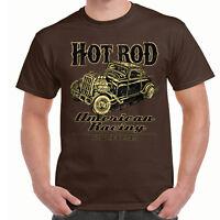 Men's Hot rod 58 Clothing T Shirt V8 Racing Vintage Retro Classic Rockabilly 27