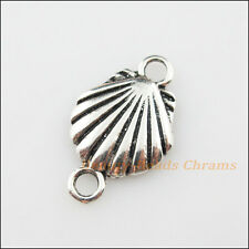 5Pcs Tibetan Silver Tone Sea Shell Charms Pendants Connectors 14x23mm