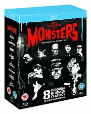 Classic Monsters Essential Collection Blu-Ray 8 Horror Movies Films Lot Show Set