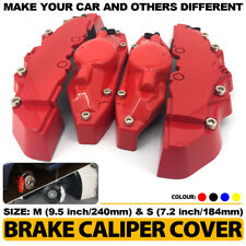 4 Pcs Red Style Brake Caliper Covers Universal Car Disc Front Rear Kits M+S CY02