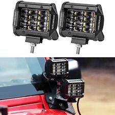 2PCS 4INCH 72W LED Work Light Bar Flood Driving Fog For Offroad Truck Trailer