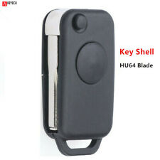 Keymall keyless entry remote car Key fob Shell Case 3 Button+Panic for Mercedes-Benz CLS C E S Only for Non-smart key which Battery holder support 2 Batteries