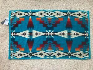 "NWT PENDLETON SOUTHWESTERN AZTEC HAND TOWEL tucson jacquard turquoise 18"" x 30"""