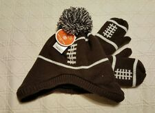 NWT Football Lined Knit Hat and Mittens Size M 2T - 3T The Children's Place