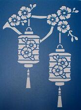 Scrapbooking - STENCILS TEMPLATES MASKS SHEET - Chinese Lanterns Stencil