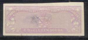 Luxembourg revenue Proof EFFETS DE COMMERCE 1867 bills of exchange fiscal