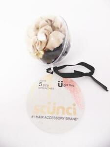 scunci Mini Scrunchies in Ornament Ball with Gold String - 5 pcs
