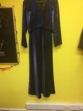 Beautiful  Ladies Evening Dress with Matching Jacket, Blue, Size 12, Prima