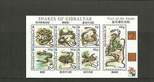 GIBRALTAR-SGMS967-YEAR OF THE SNAKE-MNH