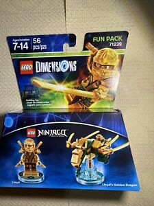 LEGO Dimensions 71239 Ninjago Lloyd & Gold Dragon Fun Pack Golden Ninja Lloyd