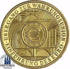 Deutschland 100 Euro Goldmünze Währungsunion 2002 Stempelglanz 1/2 Oz Gold Mzz F
