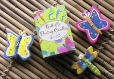 NIB - Set of 3 Floating Colorful Butterflies & Dragonfly Candles CuteTable Decor