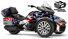 "Can Am Spyder F3-LTD Decal Graphic Wrap kit - ""Patriot USMC"""