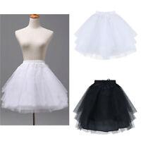 Flower Girls Bridesmaid Dress Short Underskirt Petticoat Wedding Party Crinoline