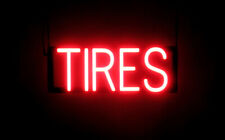 SpellBrite Ultra-Bright TIRES Sign (Neon look, LED performance)