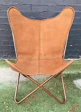 *BRAND NEW* BUTTERFLY CHAIR GENUINE SUEDE LEATHER