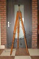 Vintage Coper Style Tripod Lamp Stand Heavy Decor Big Floor Lamp Stand Retro