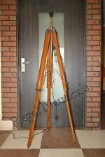 Nautical Floor Lamp Wooden Tripod Lighting Stand Shade Fixture Home