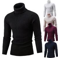 Herren Wollpullover Rollkragen Pullover Strickpullover Sweater Langarm Pulli