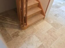 Sample of TUMBLED (Rustic) Country Mixed Travertine Opus Pattern Floor Tiles