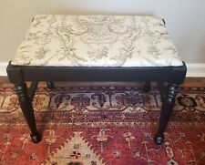 Antique Vintage Vanity Bench Piano Stool Solid Wood French Country Free shipping