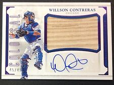#45/49 WILLSON CONTRERAS Auto 2016 National Treasures Bat Autograph Chicago Cubs