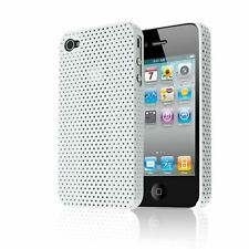 MESH PERFORATED IMPACT HARD PLASTIC BACK CASE COVER FOR IPHONE 4G 4S 4