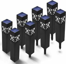 Home Zone Security Solar Walkway Lights - Landscape & Garden Path Lights, 8-Pack