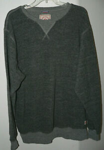 Men's IRON and RESIN L/S Sweater Fleece Size XXL Gray Made In USA Pull-over