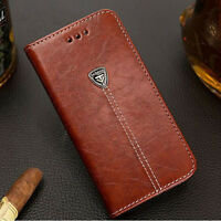 NEW! Magnetic Flip Cover Stand Wallet Leather Case For iPhone 6 Samsung S5/S6/S7