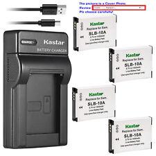 Kastar Battery Slim Charger for Samsung SLB-10A & Samsung WB1100F WB2100 Camera