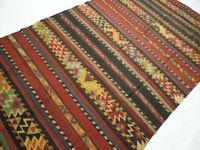 22456Handgewebter ORIGINAL Teppich KAZAK KILIM KAUKASUS KELIM ANTIK fein 327x175