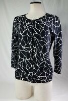 Pendleton Cardigan Sweater Ladies M Black and White