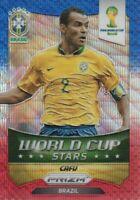 2014 Prizm World Cup Soccer Stars Blue Red Wave #47 Cafu Brazil