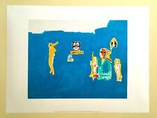 "JEAN MICHEL BASQUIAT ESTATE POP ART ORIGINAL FINE ART PRINT "" KING ZULU "" 1986"