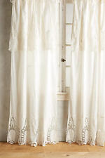 2 New Anthropologie Home Decor 50 x 63 Victorian Lace Curtains Ivory Panels