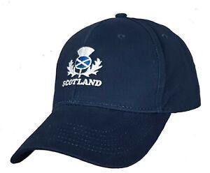 Scotland Rugby Cap Adults OSFA Mens Adjustable Baseball Hat Scottish Football