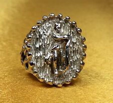 Solid 11 Grams-Size 6 Fine Jewelry Rare Vintage Antique Sterling Silver Ring