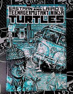 Teenage Mutant Ninja Turtles #3 1985 Mirage Studios Laird Eastman 1st Print 9.0