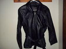 Vtg. Wilson's Black Leather Jacket w/Belt, Men's M