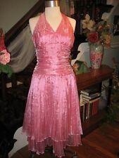 Pink Halter Top Dress by Bari Jay Size 9 / 10
